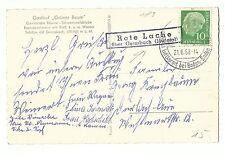 Pozza Rossa su volentieri Bach (Murgtal) paese timbro postale su AK reichental 1958