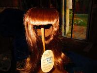 Global #605 doll wig~Auburn Long Samantha Style~Full Cap~Size 9-10~New