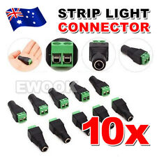 10X 12V JACK CONNECTION 5050 3528 LED STRIP LIGHT CONNECTOR POWER SUPPLY ADAPTER