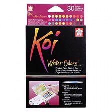 Sakura XNCW30N Koi Field 30 Assorted Watercolors with Brush Sketch Set