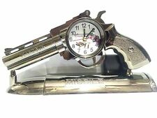 Home Decor Antique Gun Beautiful Watch Table Clock Decor
