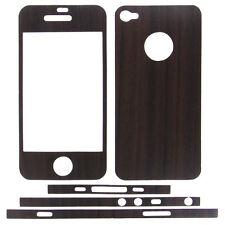 Kelobra Wood Design For Apple iPhone 4 & 4S (Front & Back Protective Skins)