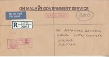 1994 Malawi Official Registered Commercial Cover to Kenya Post