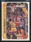 1986-87 Fleer Stickers HAKEEM AKEEM OLAJUWON Card #9 Houston Rockets