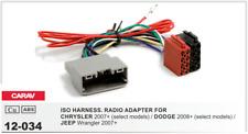 CARAV 12-034 Conector ISO OEM Radio Adaptador CHRYSLER, DODGE, JEEP Wrangler