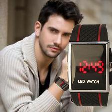 Fashion Men's Black Stainless Steel Luxury Sport Analog Quartz LED Wrist Watches
