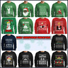 Christmas Ugly Sweater Funny Sweatshirt Mens Xmas Party Xs - 2XL Trump Stranger
