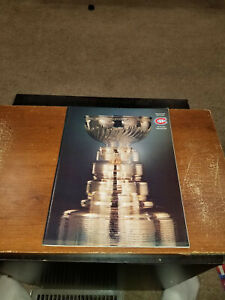 1978 APRIL 21 DETROIT RED WINGS VS MONTREAL CANADIENS PLAYOFF PROGRAM