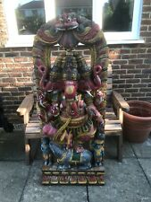 More details for a large 20th century carved wood sculpture of ganesh