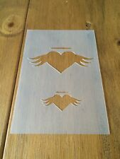 Angel Heart Mylar Reusable Stencil Airbrush Painting Art Craft DIY Home Decor