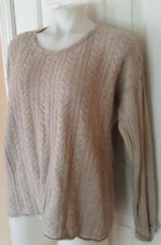 Womens Size XL Oh Baby Tan Maternity Sweater