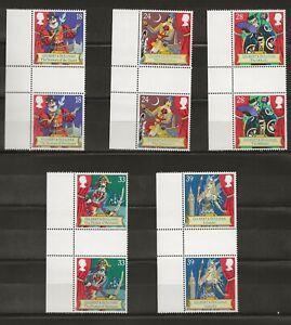 1992 Gilbert & Sullivan set, gutter pairs SG 1624-8, MNH, SOLD AT FACE VALUE