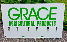 Vintage 1978 Grace Agricultural Products Feed & Seed Farm Metal Sign