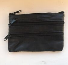 Mens & Ladies | SMALL Soft REAL Leather Coin Purse - Key Wallet | Zips