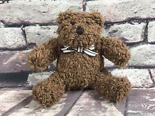 "4.5"" Baby Gap Plush Teddy Bear Curly Brown Stuffed Animal"