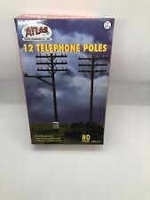 12 TELEPHONE POLES HO SCALE ATLAS LAYOUT ITEM 775 New in Box