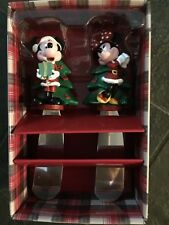 Disney Parks Mickey & Minnie Mouse Figurine Christmas Holiday Spreader Knife Set
