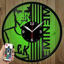 LED Vinyl Clock Eminem LED Wall Art Decor Clock Original Gift 5326