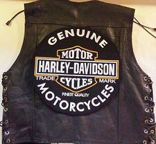 "Harley Davidson Backpatch ""Genuine Motorcycles Oil""XL 32,6cm MC Kutte Biker NEU"