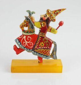 Vintage Bakelite, Krakow a lajkonik, a man on a horse figurine