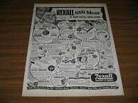 1950 Print Ad Rexall Drugs Gift Ideas Actor Dick Powell with Santa Claus Mask