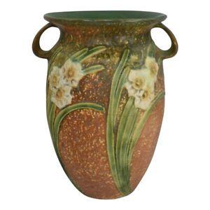 Vintage Roseville Pottery Jonquil 1931 Large Vase 531-12
