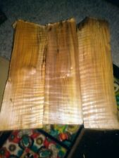 4a Curly Maple Spalted Tiger Stripe Wood Pieces Reclaimed Knife Pen Neck blank
