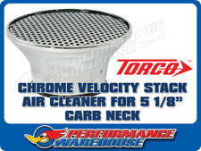 "CHROME VELOCITY STACK AIR CLEANER 5-1/8"" NECK HOLLEY EDELBROCK"