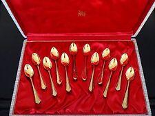 12 cuillères à café moka WMF 90 metal doré dans écrin spoon coffee