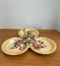 Fitz And Floyd Classics Tuscan Villa 3-Part Relish Platter (Pre-owned)