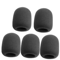 5Pcs Black Handheld Stage Microphone Windscreen Foam Mic Cover Karaoke DJ Sales