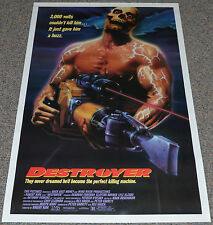 DESTROYER 1988 ORIGINAL 27x41 MOVIE POSTER! LYLE ALZADO HORROR EXPLOITATION!