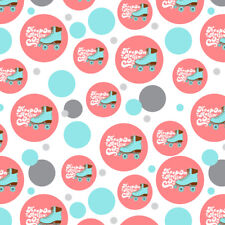 Roller Skates Derby Keep On Rolling Premium Gift Wrap Wrapping Paper Roll
