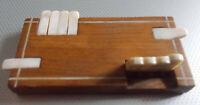 Ancien compteur à point jeux Bridge bois marqueté vers 1900