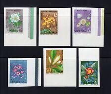 Vietnam 1964 complete Flower set IMPERF Michel #301-306 clean MNH