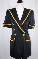 Rena Lange Women's Blazer Size 6 Cotton Blend Germany Double Breasted Career Fun