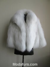 Women's Sz S Brand New White Fox Fur Jacket Coat CLEARANCE SALE