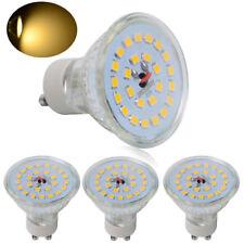 4x GU10 SMD Lamps 7W=50-60W LED Bulbs Spotlight Warm White Light Spotlight Glass