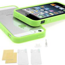 iPhone 5s TPU Bumper Crystal Case Silikon Schutz Folie Hülle Cover in grün