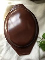 Vintage Pyrex Oval Milk Glass Casserole Lid 943-C2 Brown
