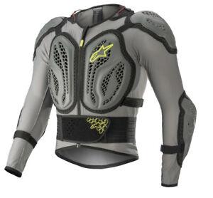 ALPINESTARS BIONIC ACTION Jacket Body Armor Chest Back Guard Protector Grey 2XL