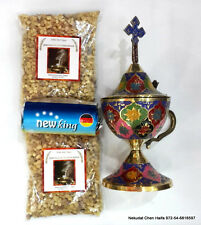 Jerusalem Frankincense Aromatic Resin Rock Incense 2 packs + Copper Burner +gift