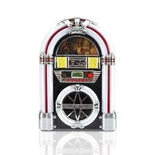 Vintage Jukebox MP3 Player AM/FM Retro Radio LED Lights USB/SD Readers Tabletop