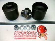 SUZUKI GSF 1250 BANDIT GSX1250FA CRASH MUSHROOMS FRONT AXLE SLIDERS BOBBINS  S6J