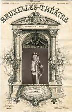Schaeffers Nestor, Bruxelles-Théâtre, Antoine Émile dit Émile Bertin (1847-1906