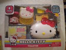 New HELLO KITTY PRETEND PLAY TOASTER 8 pieces Sanrio