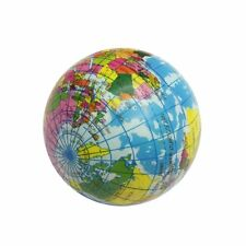 World Map Foam Earth Globe Stress Relief Bouncy Ball Atlas Geography Toy Gift