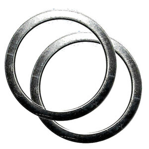 2 X Exhaust Gasket Suitable For Moto Guzzi Quota 1000 Year 1989-1997