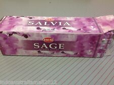 12 Sq Boxes of 8g HEM SAGE Incense Sticks Hem Brand- Total 96 sticks