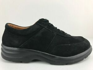 Dr. Comfort Lily Oxford Diabetic Comfort Shoes Womens 7.5 W Black Suede